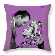 John Wayne And Marlene  Dietrich Publicity Photo The Spoilers 1942 Throw Pillow