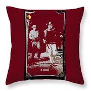 John Wayne And Robert Mitchum Publicity Photo El Dorado 1967 Old Tucson Arizona 1967-2012 Throw Pillow