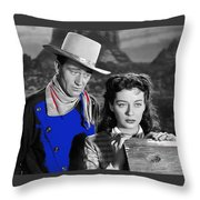 John Wayne Gail Russell Angel And The Badman  Publicity Photo 1947-2012 Throw Pillow