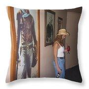 John Wayne Gallery Hondo 1953 Crystal Palace Saloon Helldorado Days Tombstone Arizona 2004 Throw Pillow