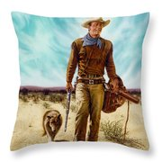 John Wayne Hondo Throw Pillow