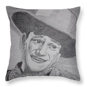 John Wayne Throw Pillow