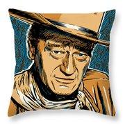 John Wayne Pop Art Throw Pillow by Jim Zahniser
