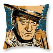 John Wayne Pop Art Throw Pillow