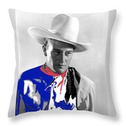 John Wayne Publicity Photo Overland Stage Raiders 1938 Throw Pillow
