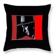 John Wayne Ringo Kid Portrait Stagecoach 1939-2013 Throw Pillow