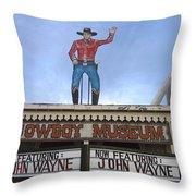 John Wayne Shuttered Cowboy Museum Close-up Tombstone Arizona 2004 Throw Pillow