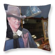 John Wayne Tall In The Saddle Homage 1944 Cardboard Cut-out  Tombstone Arizona 2004 Throw Pillow