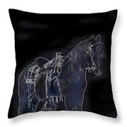 John Wayne The Horse Soldiers 1959 Homage #1 C.1880 Horse And Saddle-2009 Throw Pillow