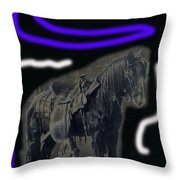 John Wayne The Horse Soldiers Homage #2 1959 C.1880 Throw Pillow