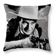 John Wayne Two-fisted Law  1932 Publicity Photo Throw Pillow