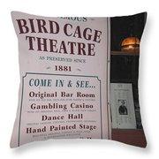 John Wayne's Filmography Bird Cage Theater Tombstone Az  2004 Throw Pillow