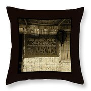 John Wayne's Prop Collection The Alamo Old Tucson Arizona 1967-2009 Throw Pillow