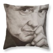 Johnny Throw Pillow by Amber Stanford