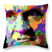 Johnny Cash - Abstarct Throw Pillow