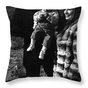Johnny Cash And Family Old Tucson Arizona 1971 Throw Pillow