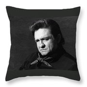 Johnny Cash Close-up The Man Comes Around Music Homage Old Tucson Az  Throw Pillow