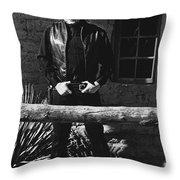 Johnny Cash Gunslinger Hitching Post Old Tucson Arizona 1971  Throw Pillow