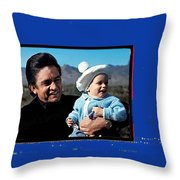 Johnny Cash John Carter Cash Old Tucson Arizona 1971 Throw Pillow