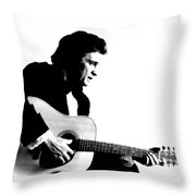 Johnny Cash Man In Black Throw Pillow