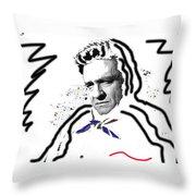Johnny Cash Man In White Literary Homage Old Tucson Arizona 1971-2008 Throw Pillow