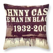 Johnny Cash Memorial Throw Pillow
