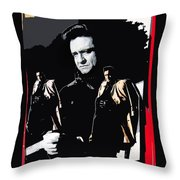 Johnny Cash Multiples  Trench Coat Sitting Collage 1971-2008 Throw Pillow