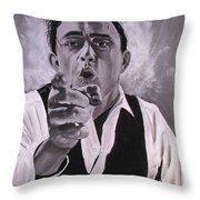 Johnny Cash Portrait Throw Pillow