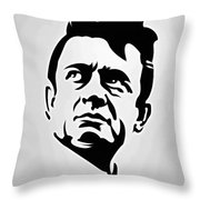 Johnny Cash Poster Art Portrait Throw Pillow