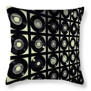 Johnny Cash Vinyl Records Throw Pillow