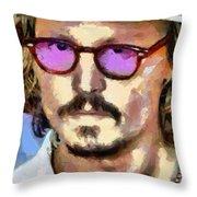 Johnny Depp Actor Throw Pillow