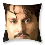 Johnny Depp Portrait Throw Pillow