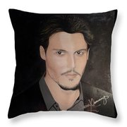 Johnny Depp - The Actor Throw Pillow