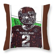 Johnny Manziel 6 Throw Pillow by Jeremiah Colley