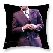 Johnny Mathis Throw Pillow