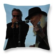 Johnny Winter And James Montgomery Playing The Blues Throw Pillow