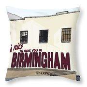 John's City Diner Throw Pillow