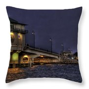 John's Pass Bridge Throw Pillow