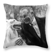 Johnson And Blanco Throw Pillow by Martha Suhocke