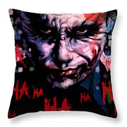 Joker Throw Pillow by Jeremy Scott