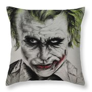 Joker Throw Pillow