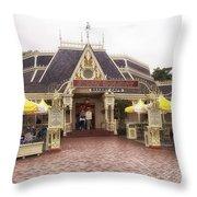 Jolly Holiday Cafe Main Street Disneyland 02 Throw Pillow