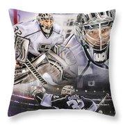 Jonathan Quick Collage Throw Pillow
