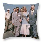 Jone Ann Pedersen Miss California June 1949 Throw Pillow