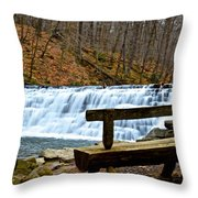 Jones Mill Run Dam Relaxing View Throw Pillow