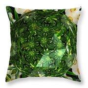 Jonquil Kaleidoscope Under Polyhedron Glass Throw Pillow