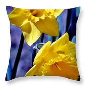 Jonquil Watercolor Throw Pillow