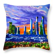 Jordan 04 Throw Pillow by Catf