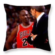 Jordan And Coach Throw Pillow