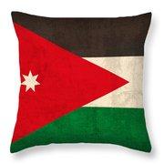 Jordan Flag Vintage Distressed Finish Throw Pillow